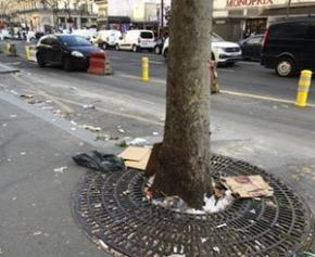 The debate on the cleanliness of Paris relaunched via social networks