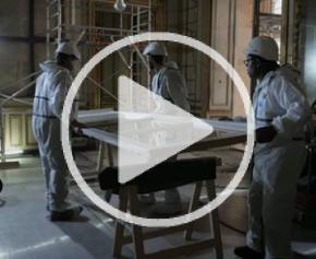 Hôtel de la Marine : opération restauration des menuiseries