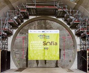 The Sofia tunnel boring machine has arrived at the future Place Carnot station for the extension ...