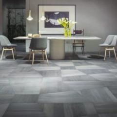 Geometric parquet floor in Linden associated with surprising colors