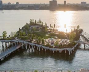 """A New York, """"Little Island"""", le nouveau parc en lévitation sur l'Hudson"""