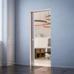 Sliding door frame without paneling