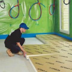 Polyurethane foam insulation board for floors and floors