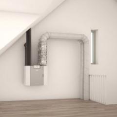 Double-flow ventilation unit