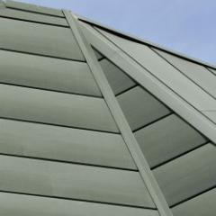 Colored veined zinc for roofs, facades and rainwater drainage