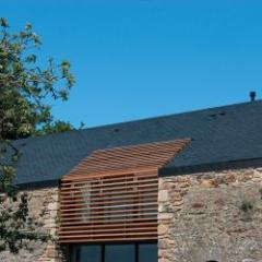Natural slate thermal solar cover