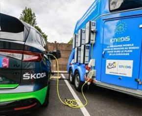 The sustainable mobility system implemented on the Tour de France ...