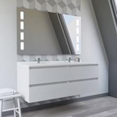 Meubles de salle de bain livrés montés