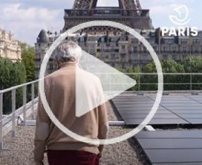 Solar panels set up in Paris