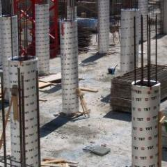 Cardboard formwork tube (round, square, rectangle, joint)