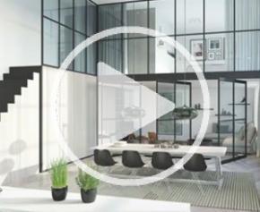 Verrière aluminium d'intérieur Indoor Factory® by Profils Systèmes