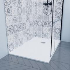 Receveurs de douche extra-plats en résine allégée