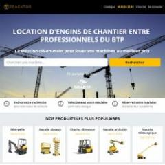 Plateforme de location d'engins de chantier
