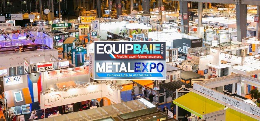Equipbaie-Metalexpo du 20 au 23 novembre à Paris Porte de Versailles