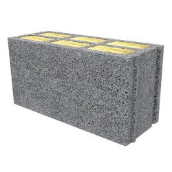 Block with interior insulation for small groups