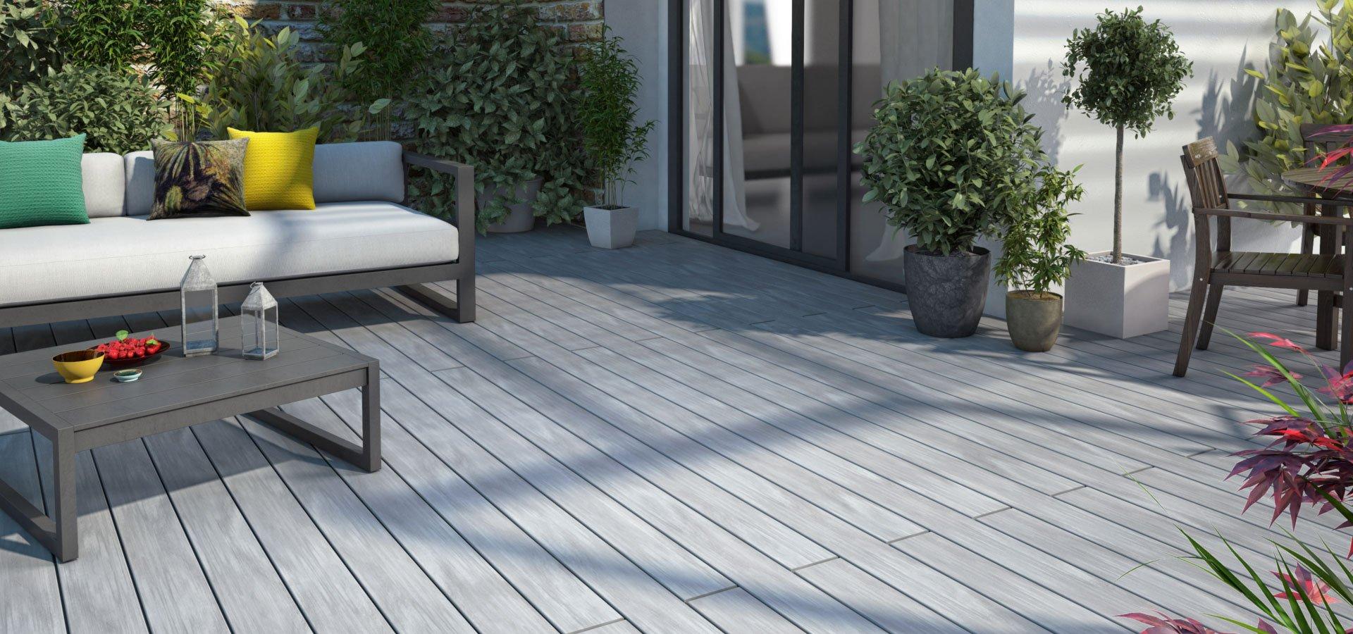 lame en bois composite facile d 39 entretien lame atmosph re bross e silvadec batinfo. Black Bedroom Furniture Sets. Home Design Ideas