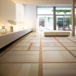 Oak parquet rich in contemporary geometry