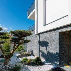 The only natural stone panel certified for outdoor use