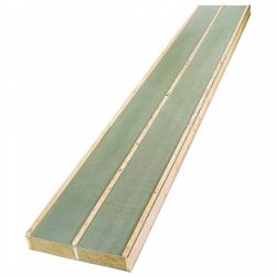 Seasoned sandwich panel with rock wool to insulate a sloping roof
