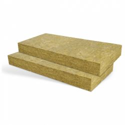Rock wool insulation panel, single density, uncoated