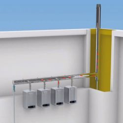 Cascade flue and connections