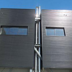 Boiler room high ventilation duct
