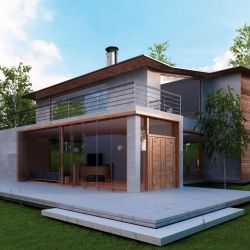 Designer roof outlet for modern and contemporary homes