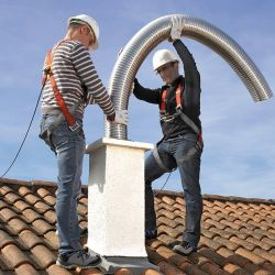 Flexible tubing for deviated duct in renovation