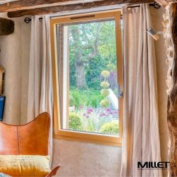 Aluminum exterior and window and interior wood window