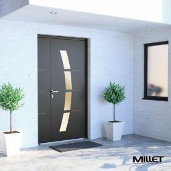 Aluminum and mixed entry door