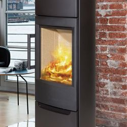 Design, trendy and contemporary wood stove