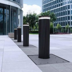 Protection bollards for areas that may be threatened by vehicles