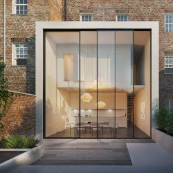 Large-scale minimalist sliding door