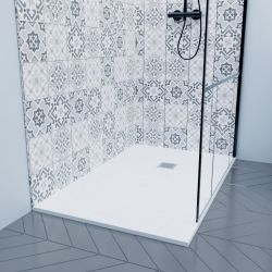 Low-profile shower trays in lightweight resin